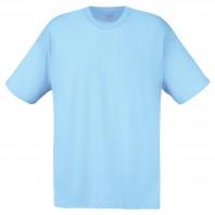 Мужская голубая однотонная футболка без рисунка