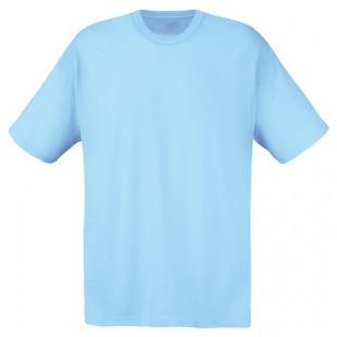 Футболка мужская голубая однотонная без рисунка