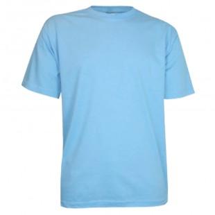 Футболка голубая детская однотонная без рисунка Дарси