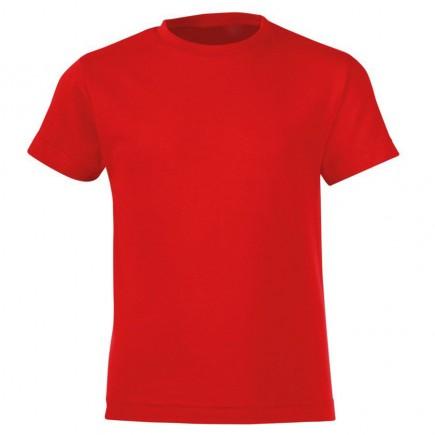 Мужская красная однотонная футболка без рисунка