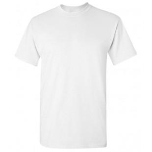 Мужская белая однотонная футболка без рисунка