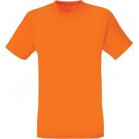 Мужская оранжевая однотонная футболка без рисунка