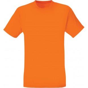 Футболка мужская оранжевая однотонная без рисунка
