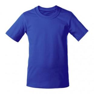 Футболка мужская синяя однотонная без рисунка