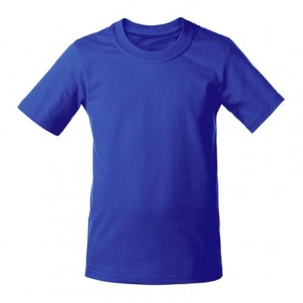 Мужская синяя однотонная футболка без рисунка