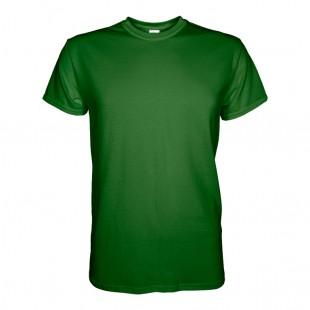 Футболка мужская зеленая однотонная без рисунка