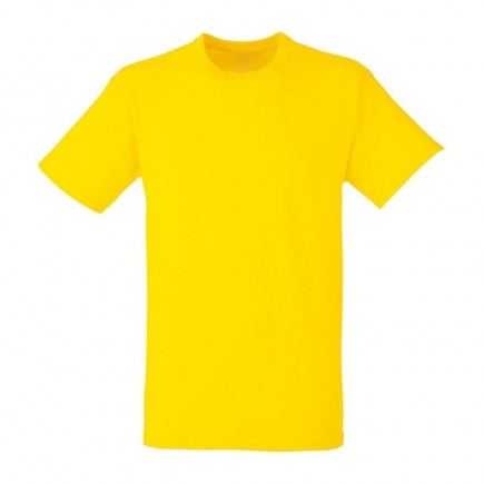 Мужская желтая однотонная футболка без рисунка