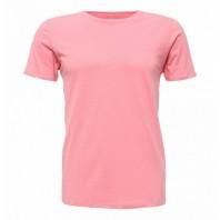 Женская розовая однотонная футболка без рисунка