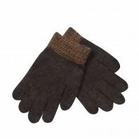 Перчатки темно-коричневые