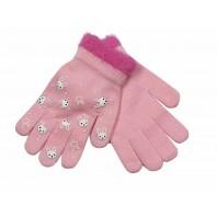Перчатки розовые Мария