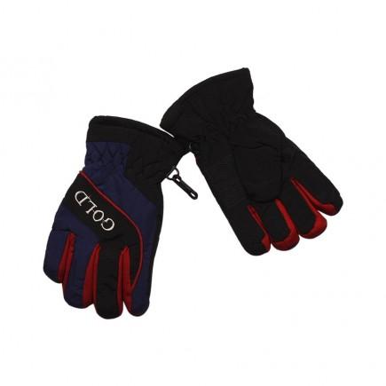 Перчатки зимние сине-красные