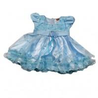 Платье детское  нарядное Мария голубое