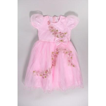 Платье детское нарядное розовое
