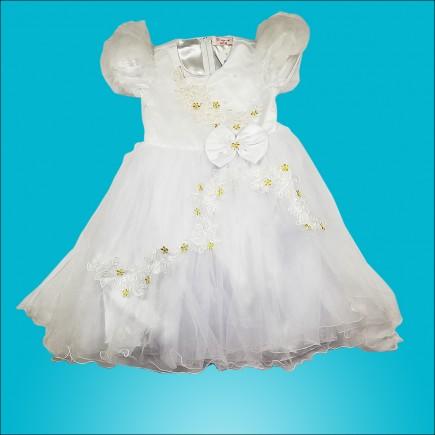 Платье детское нарядное белое PM435