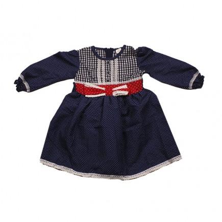 Платье детское  синее