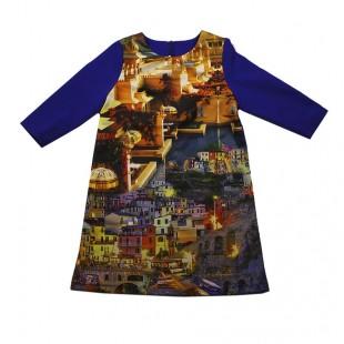 Платье детское  Венеция синее