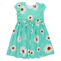 Платье детское  Ромашки бирюзовое PMP186