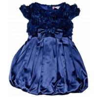 Платье детское нарядное ярко-синее PMV22