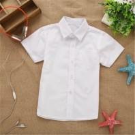 Рубашка белая классическая для мальчика с короткими рукавами