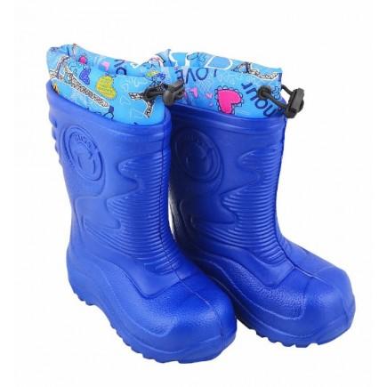 Сапоги детские резиновые синие