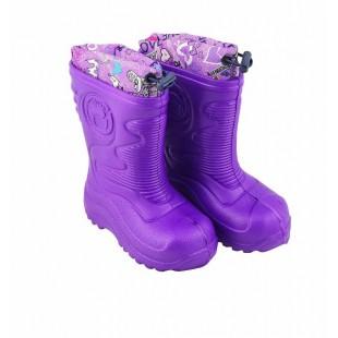 Сапоги детские резиновые фиолетовые