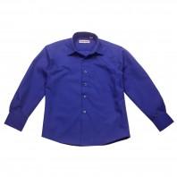 Рубашка темно-синяя классическая для мальчика