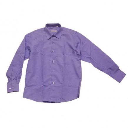 Рубашка сиреневая классическая для мальчика