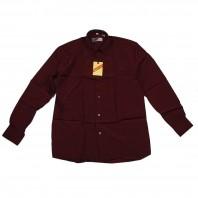 Рубашка бордовая классическая для мальчика