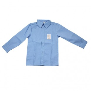 Рубашка голубая классическая для мальчика
