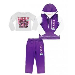 Спортивный костюм для девочки фиолетовый