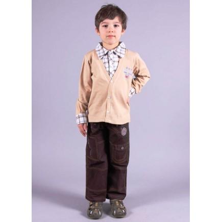Джемпер для мальчика бежевый