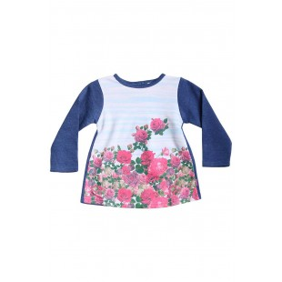 Толстовка для девочки Розы синяя