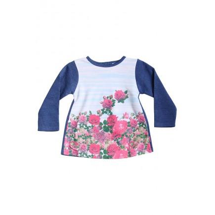 Кофта для девочки Розы синяя