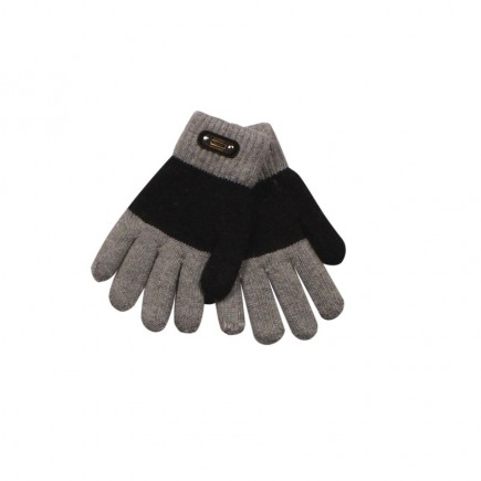 Перчатки для мальчика Fashion серо-черные