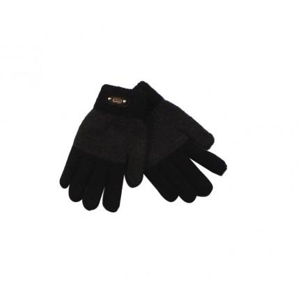 Перчатки для мальчика Fashion черно-серые